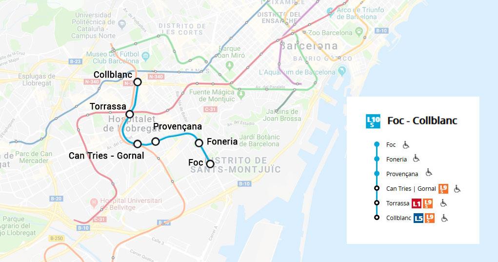 Mapa Metro De Barcelona Actualizado.Linea 10 Sud Metro De Barcelona 2019 Metrodebarcelona Com