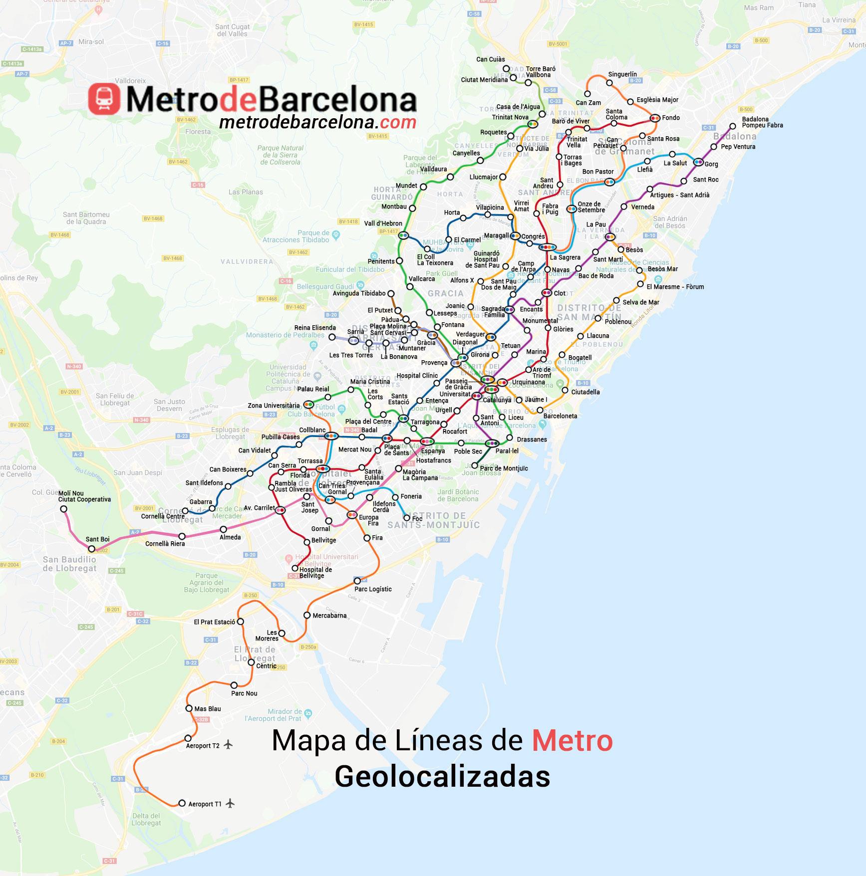 Mapa Metro Barcelona 2019.Mapas Del Metro De Barcelona 2019 Metrodebarcelona Com